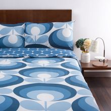 Orla Kiely 70's flower oval marine bed linen set