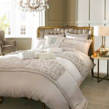Kylie Minogue Christa Oyster Bed Linen Range