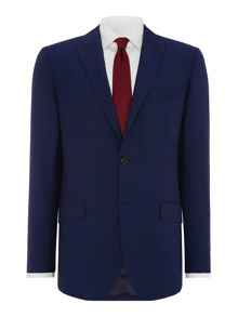 Simon Carter Solid Dark Blue Suit