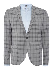 Label Lab Belvin peak lapel check suit