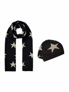 Biba Lurex star knitted accessories