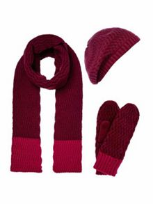 Dickins & Jones Zig zag knitted accessories