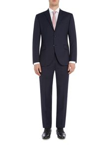 Corsivo Gavi Italian Wool Textured Stripe Suit