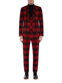 Noose and Monkey Skinny Fit Check Suit