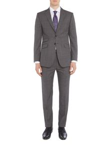 Ted Baker Notch Lapel SB2 Check Charcoal