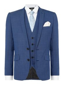 Kenneth Cole Tompkins Slim Fit Pindot Suit