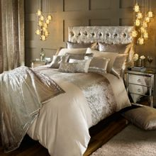 Kylie Minogue Ombre champagne bed linen range
