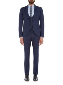 Label Lab Lemmy Tonal Check Skinny Suit