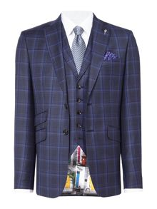 Ted Baker Gave Slim Large Check Suit
