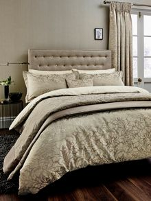 Sanderson Eleanor bed linen range in Mink