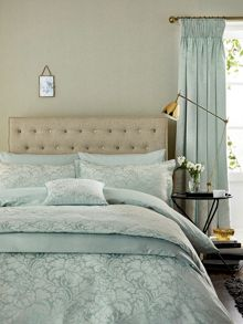 Sanderson Eleanor bed linen range in Aqua