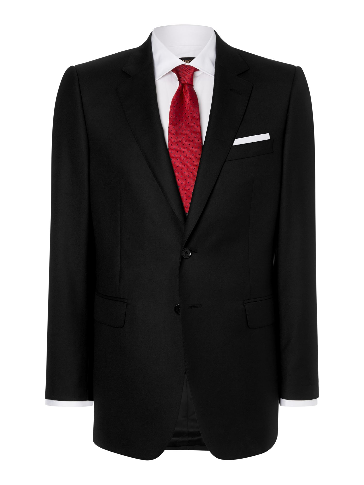 Plain twill formal single breasted suit