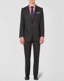 Herringbone Single breasted wool suit