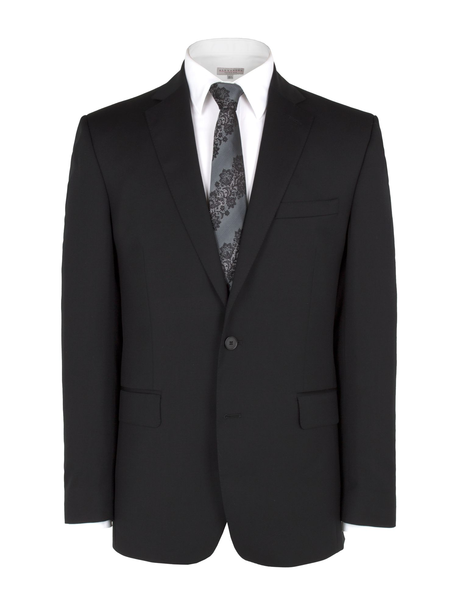 Plain black core suit