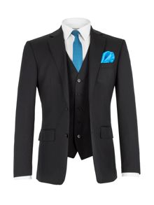 Porchester Plain Tailored Black Suit