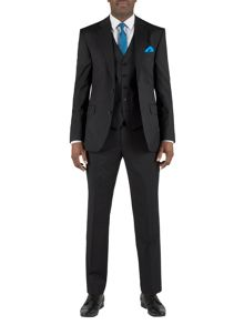 Alexandre of England Porchester Plain Tailored Black Suit