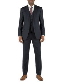 Plain navy wool suit
