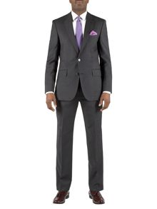 Plain charcoal wool suit