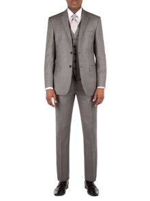 Grey sharkskin suit