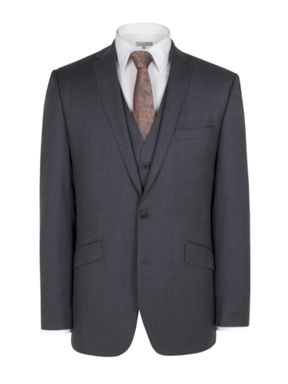 Alexandre of England Charcoal cashmere suit and waistcoat