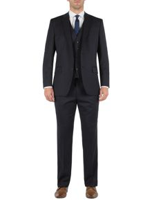 Twill navy suit