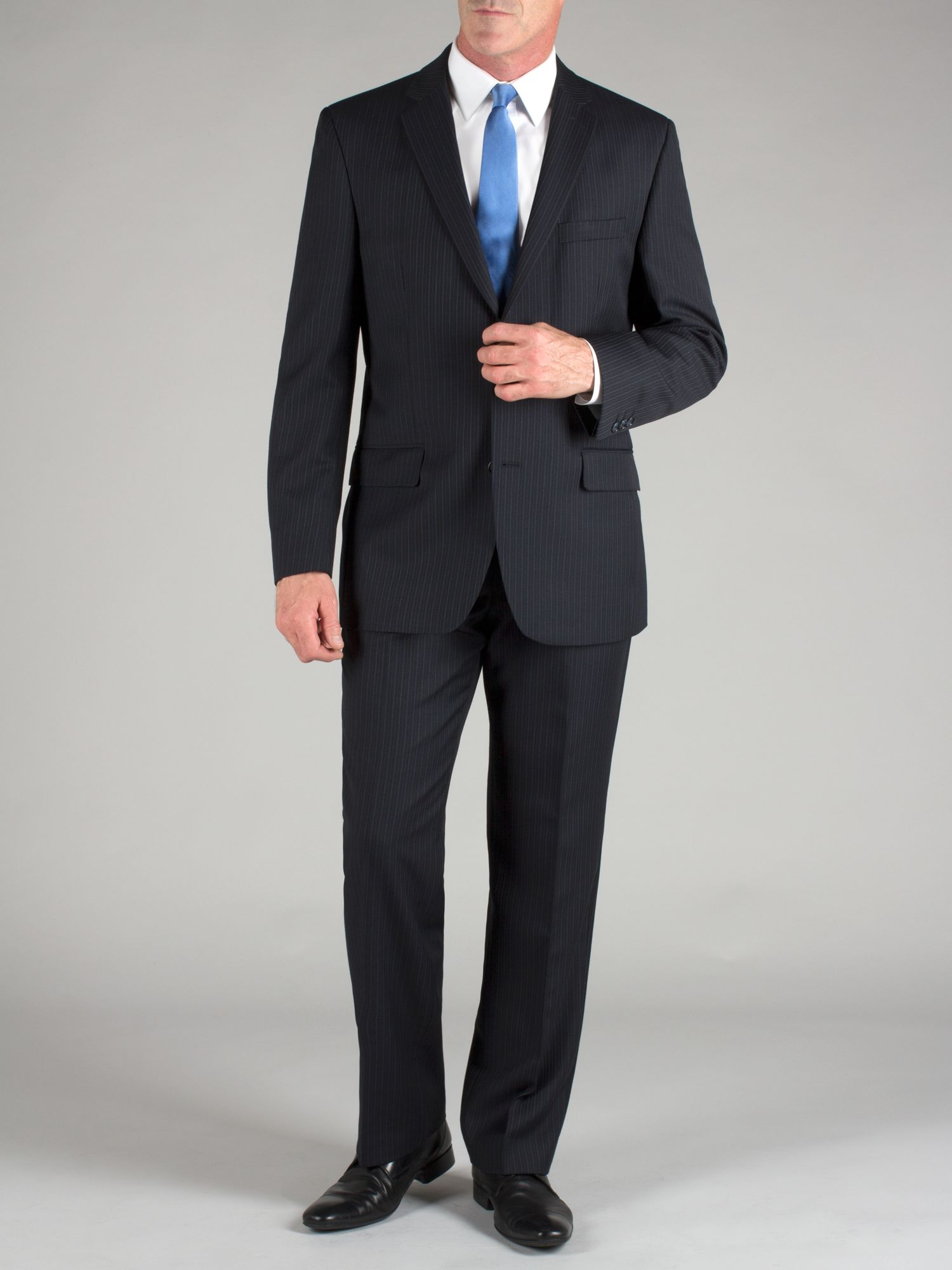 Navy multi stripe suit