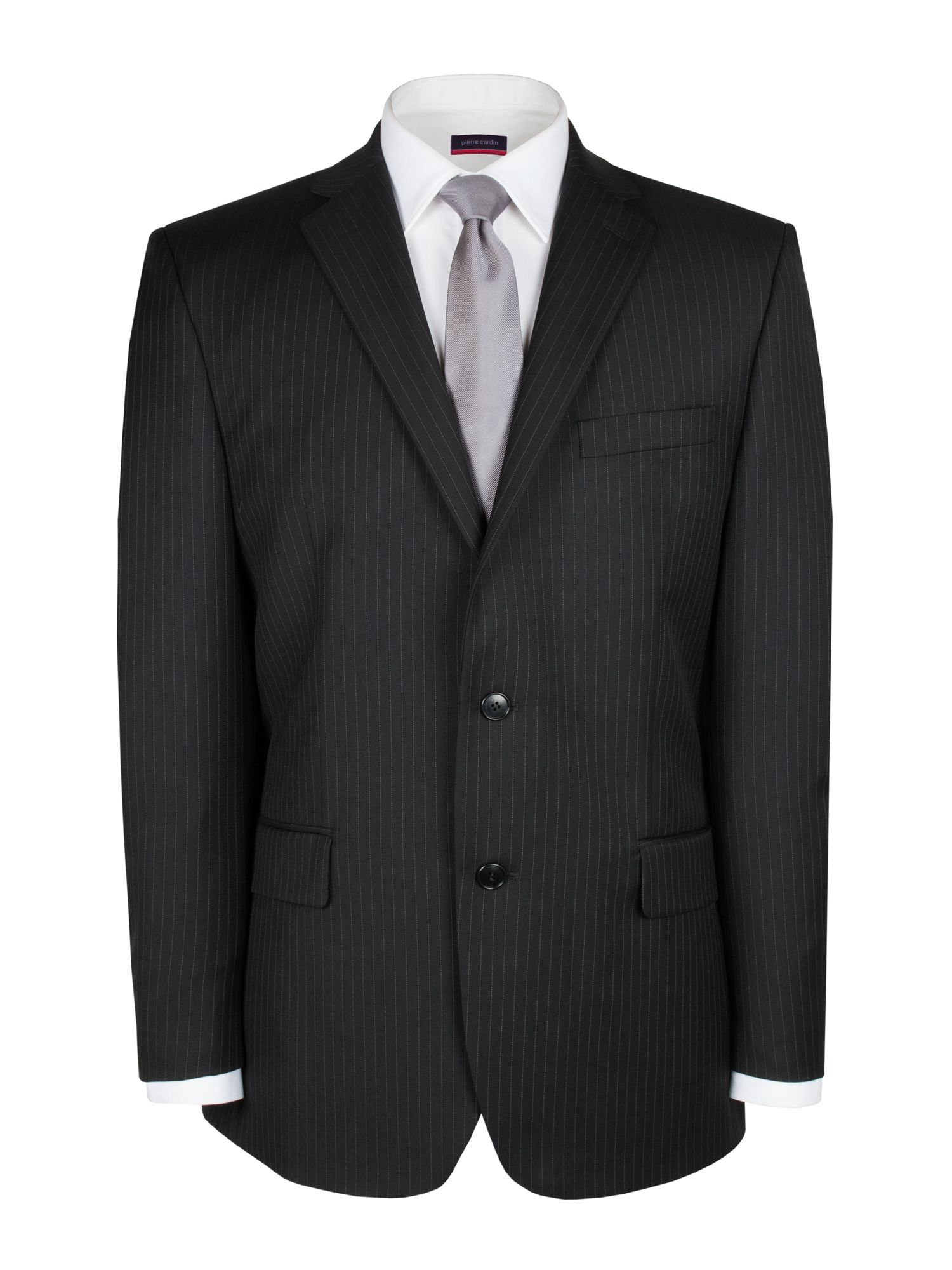 Black striped suit