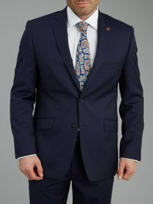 Micro stripe suit