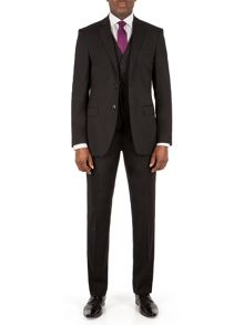 Alexandre of England Markham Panama Tailored Fit Black Suit