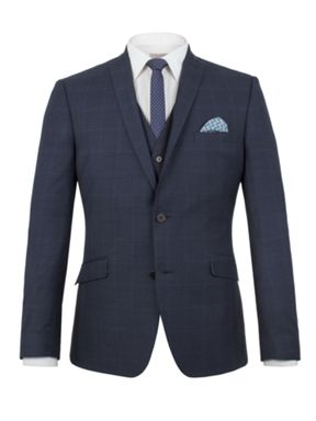 Limehaus Wilson tonal check slim fit suit