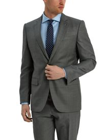 Jaeger Grey Wool sharkskin modern suit