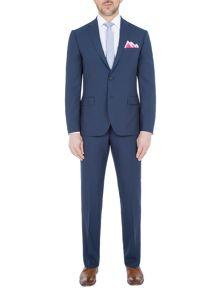 Paul Costelloe Slim Fit Blue Plain Mohair Suit