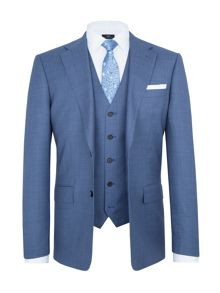 Paul Costelloe Modern Fit Blue Birdseye Suit
