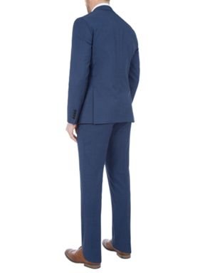 Paul Costelloe Slim Fit Blue Micro Check Suit