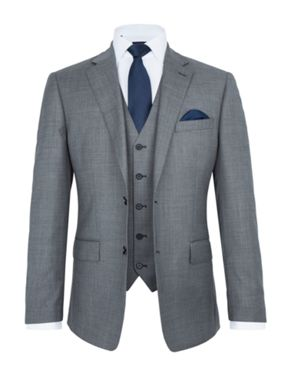 Paul Costelloe Soho Sharkskin Three Piece Wool Suit
