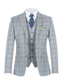 Gibson Grey with blue overcheck suit