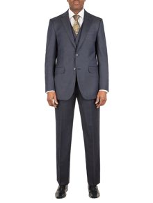 Aston & Gunn Bramham check regular suit
