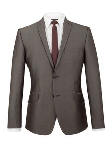 Limehaus Johnston grey micro slim fit suit