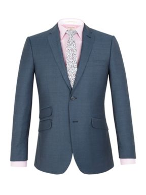 Racing Green Harris jaspe tailored fit suit