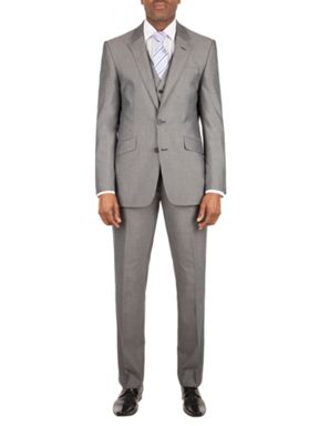Aston & Gunn Clayton silver tailored jacket
