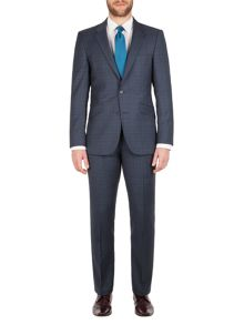 Aston & Gunn Apperley check tailored suit