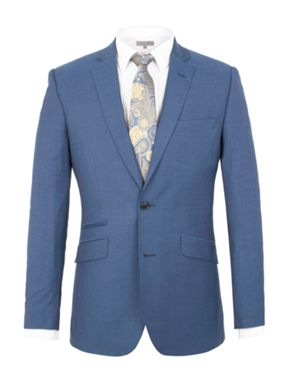 Alexandre of England Goldsmith bright blue panama suit