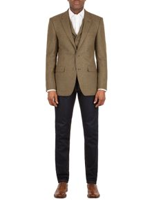Aston & Gunn Oakworth rust check tailored suit