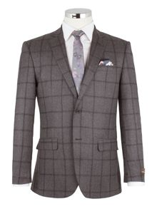 Alexandre of England Anderson Grey Windowpane Check Suit