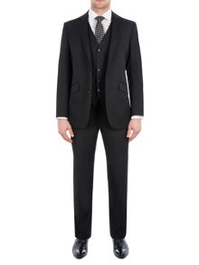 Pierre Cardin Philip Black Twill Performance Suit