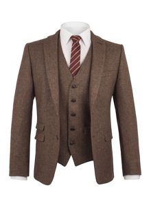 Ben Sherman Antique Gold British Tweed Suit