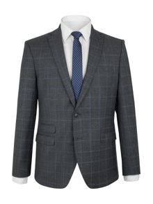Ben Sherman Grey with Blue Overcheck Camden Suit