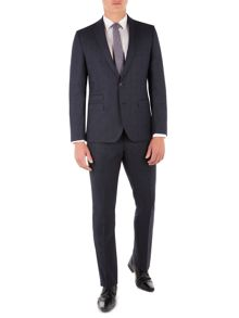 Ben Sherman Blue with Burgundy Overcheck Suit
