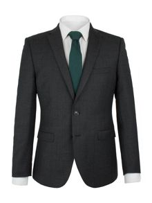 Ben Sherman Charcoal Flannel Check Camden Suit