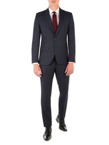 Ben Sherman Navy Check Flannel Camden Suit